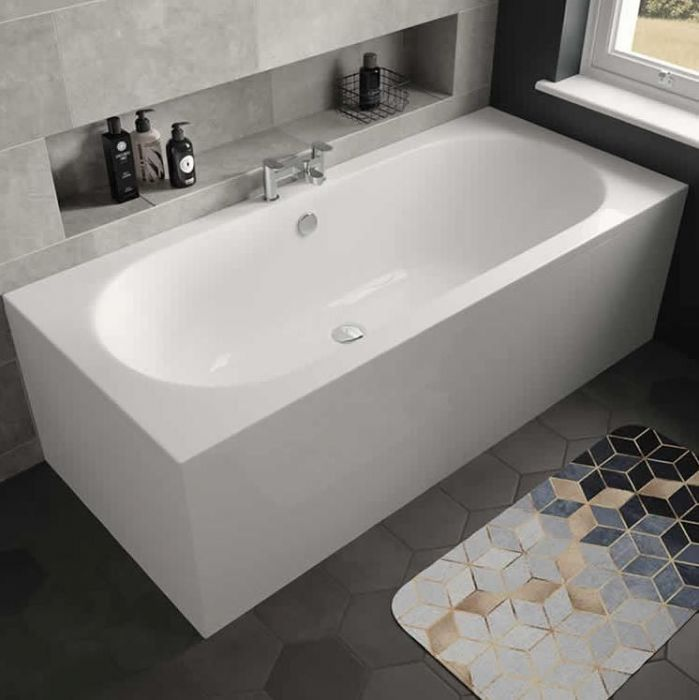 Lux Bath - Magnus Double Ended - 1700mm x 750mm - White