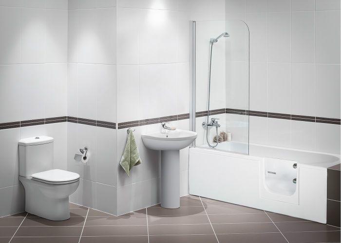 Mantaleda Abalone RV Walk-In Shower Bath - 1500mm x 700mm