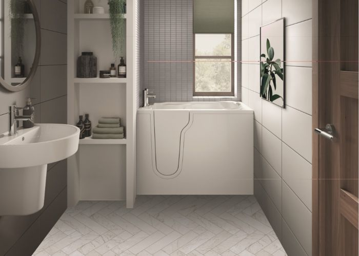 Mantaleda Athena Mini Deep Soak Bath - 1060mm x 660mm