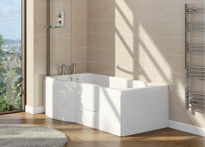 Mantaleda Calypso Walk-In Shower Bath - 1675mm x 850mm x 750mm