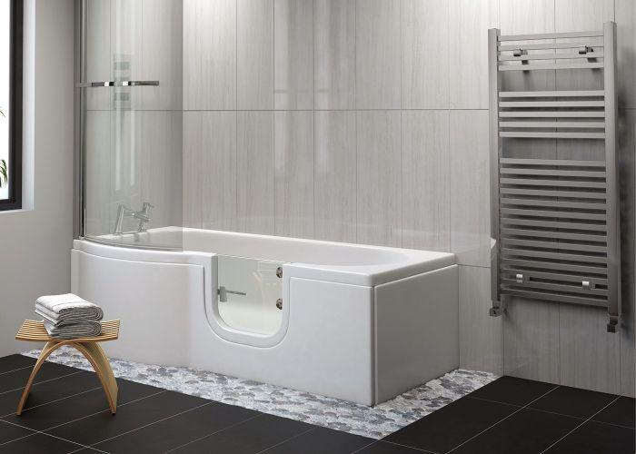 Mantaleda Carnelian Walk-In Shower Bath - 1675mm x 850mm x 750mm