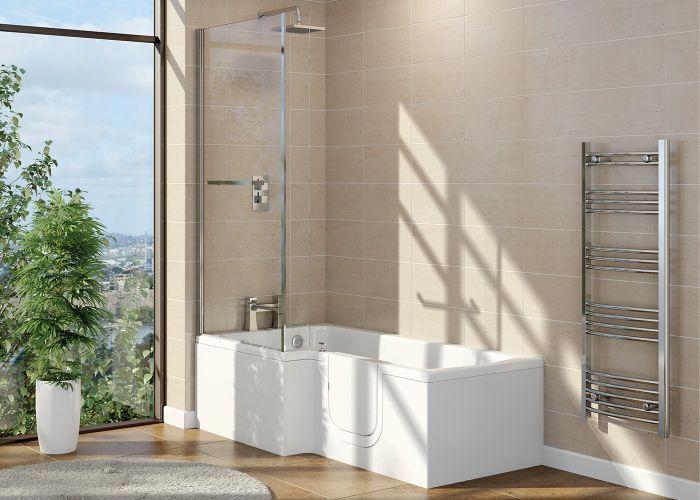 Mantaleda Highgrove Walk-In Shower Bath - 1700mm x 850mm x 700mm