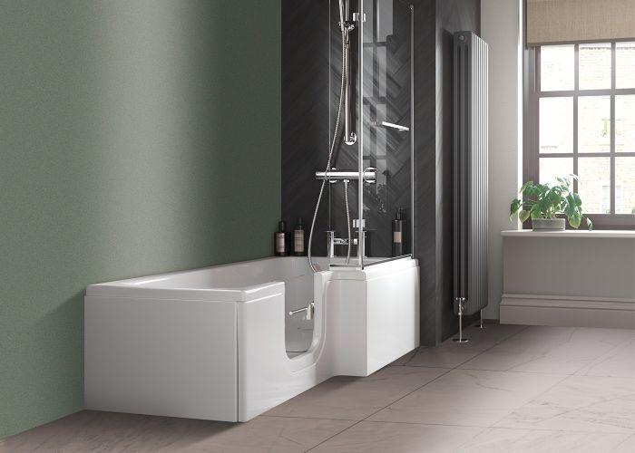 Mantaleda Larimar Walk-In Shower Bath - 1700mm x 850mm x 700mm