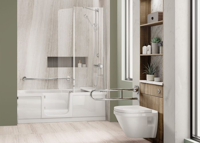 Mantaleda Olivia Walk-In Shower Bath - 1700mm x 750mm