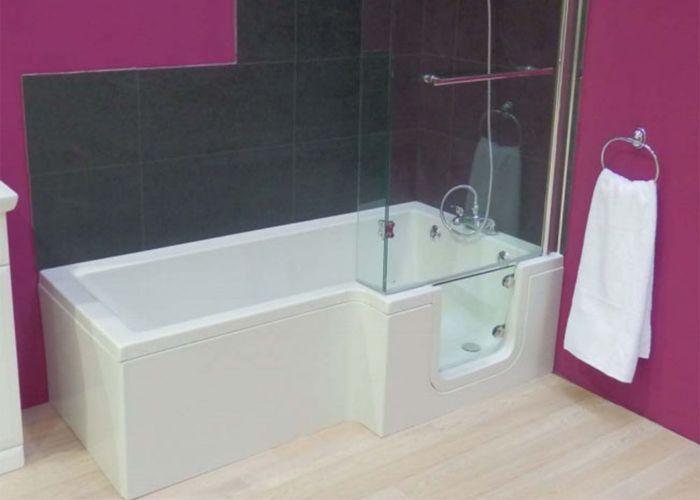 Mantaleda Savana Walk-In Shower Bath - 1700mm x 550mm x 700mm