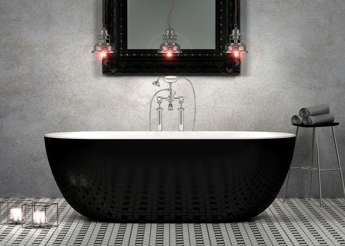 Image of Charlotte Edwards Mayfair Bath in Gloss Black