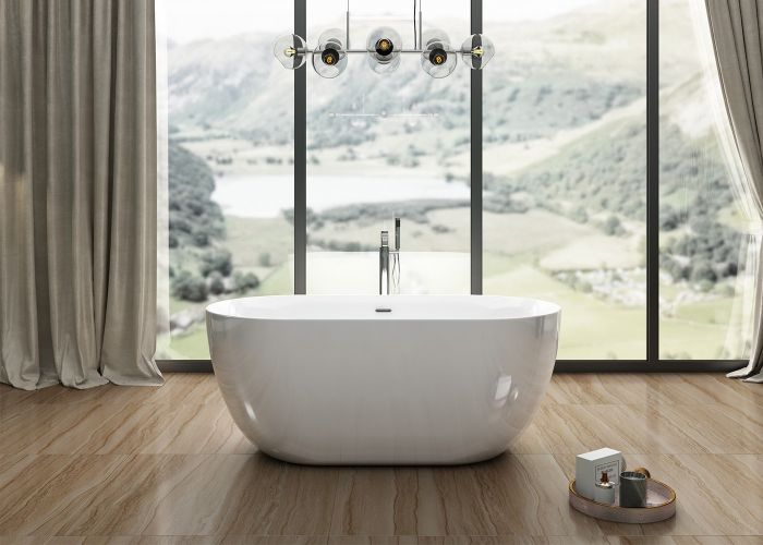 Image of Charlotte Edwards Mayfair Bath in Gloss White