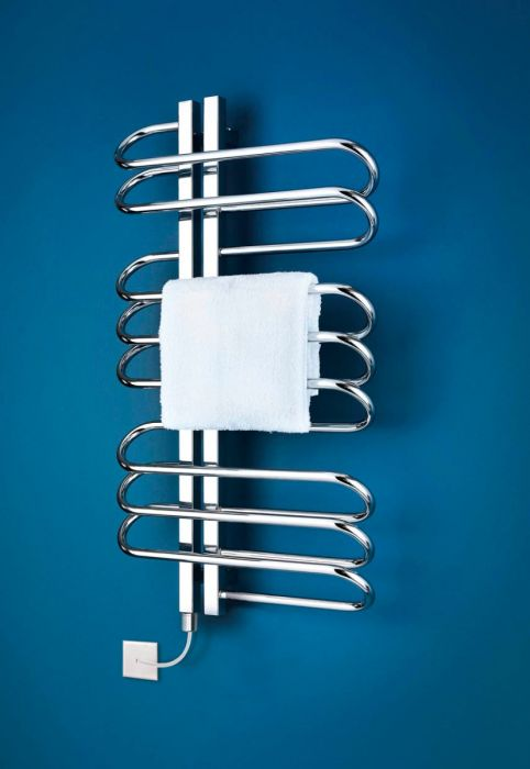 Bisque Orbit Left Handed Electric Towel Radiator