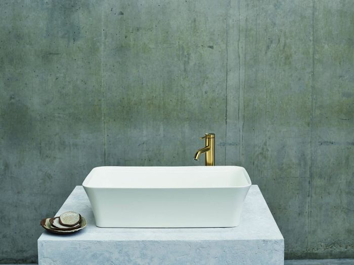 Clearwater - Palermo Basin Gloss White - 350mm x 550mm