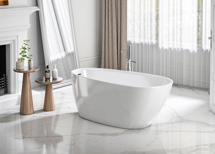 Image of Charlotte Edwards Eris Bath in Gloss White
