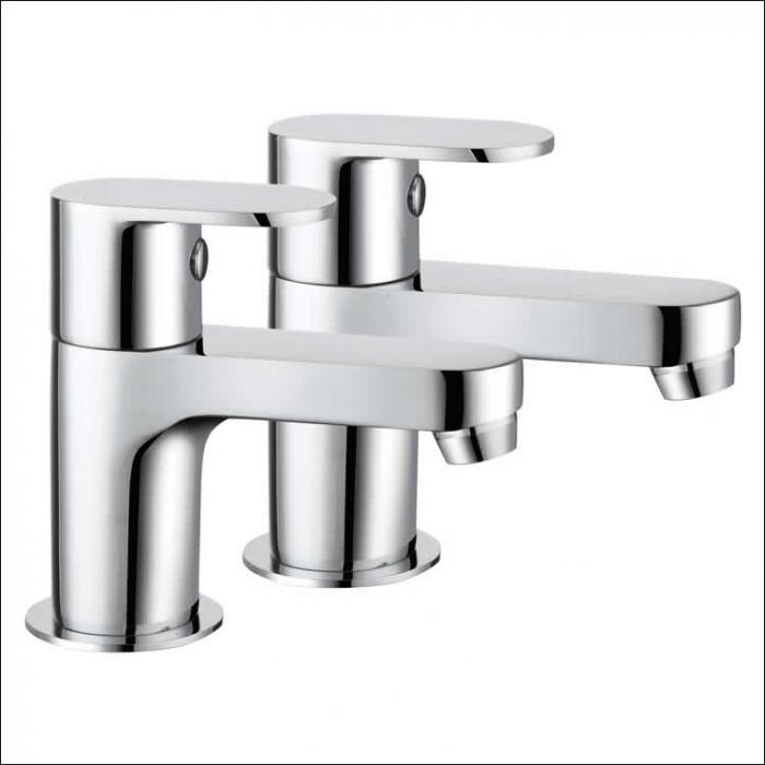 Lux Bath - Basin Pillar Taps - Chrome