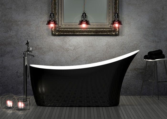 Image of Charlotte Edwards Portobello Bath in Gloss Black
