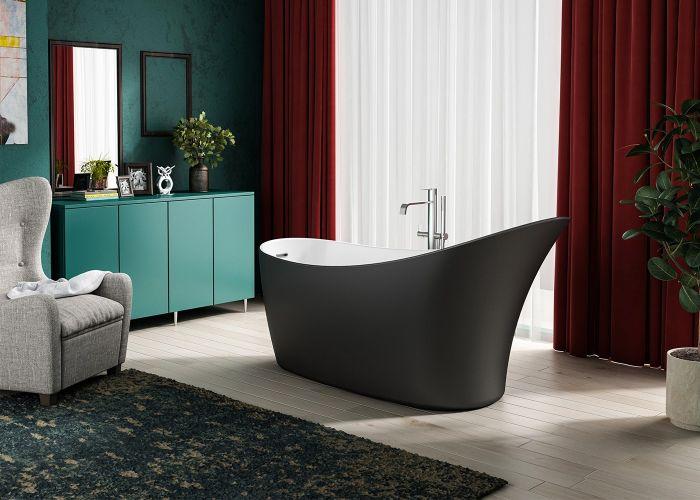 Image of Charlotte Edwards Portobello Bath in Matt Black