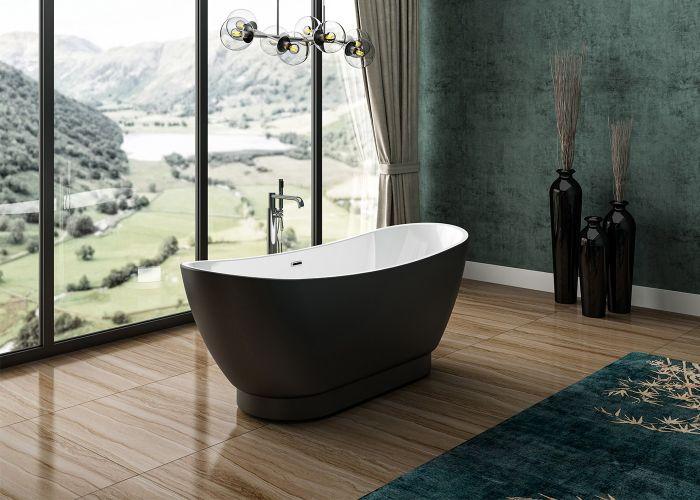 Image of Charlotte Edwards Richmond Bath in Matt Black