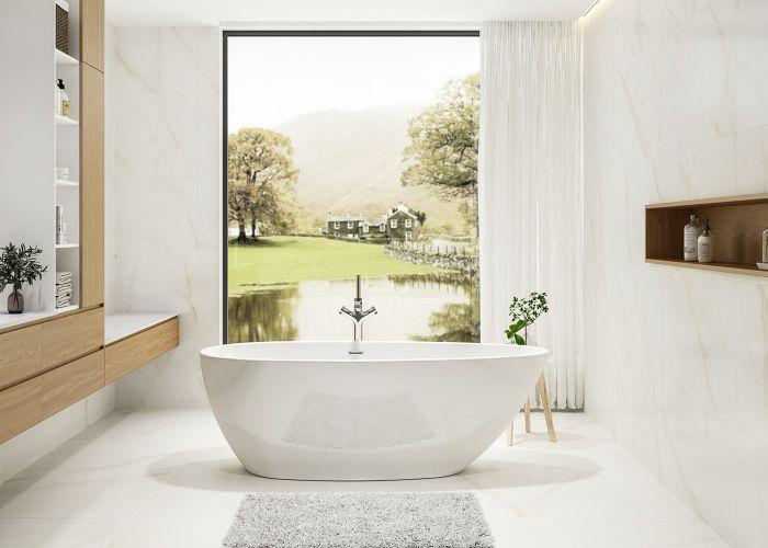 Image of Charlotte Edward Ruby Bath in Gloss White