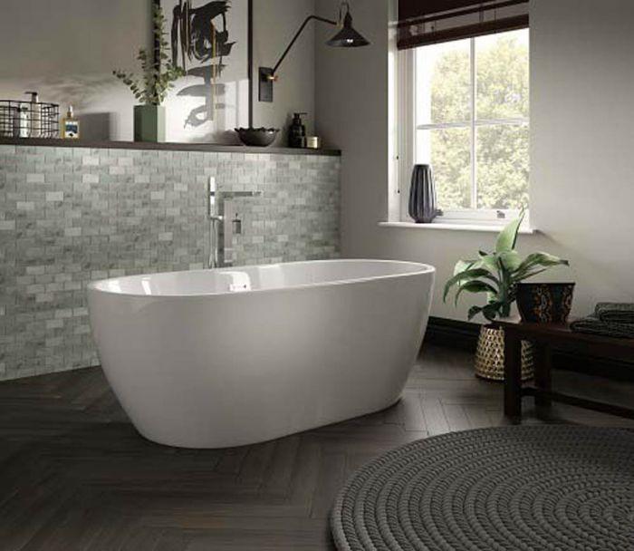 Lux Bath - Senna - 1800mm x 750mm - White