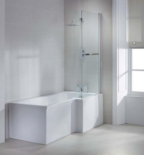 Lux Bath - L Shaped Shower Bath - 1700mm x 850mm