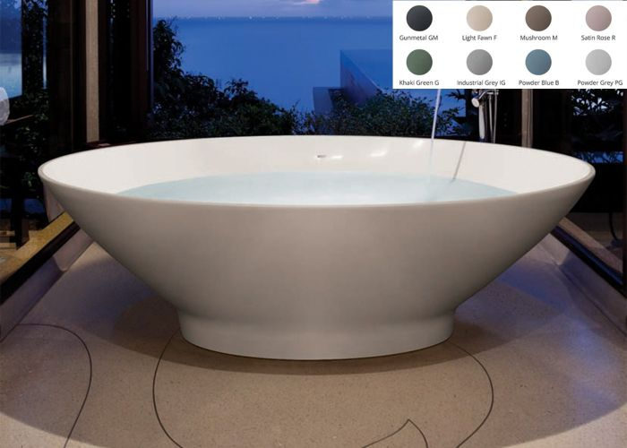 BC Designs Tasse Freestanding Bath - 1770mm x 880mm