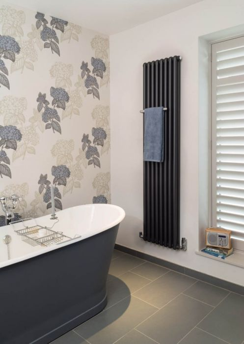 Bisque Tetro Aluminium Wall Hung Towel Radiator