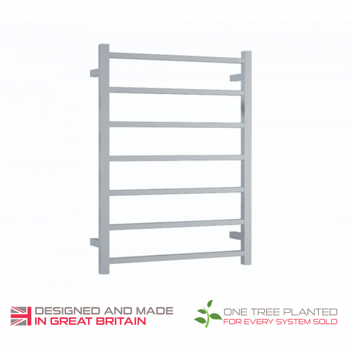 ThermoSphere Square Stainless Steel Towel Rail