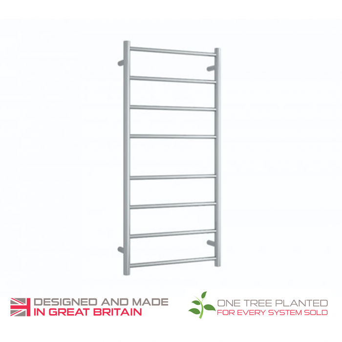 ThermoSphere Straight Round Stainless Steel Towel Rail
