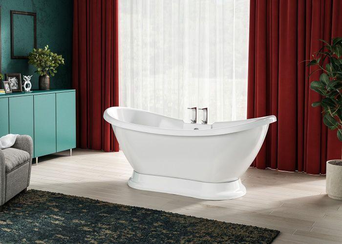 Image of Charlotte Edwards Trafalgar Bath in Gloss White