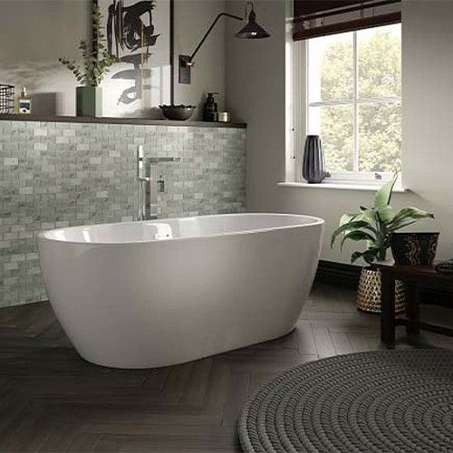 Lux Bath - Senna - 1555mm x 745mm - White