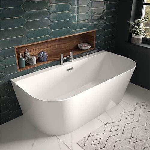 Lux Bath - D-Shape Bath - 1700mm x 800mm