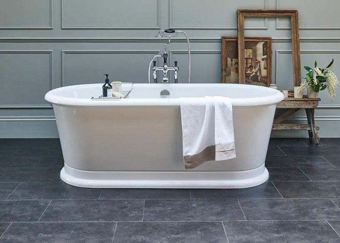 Burlington - London Round Double Ended Bath White - 1800mm x 850mm