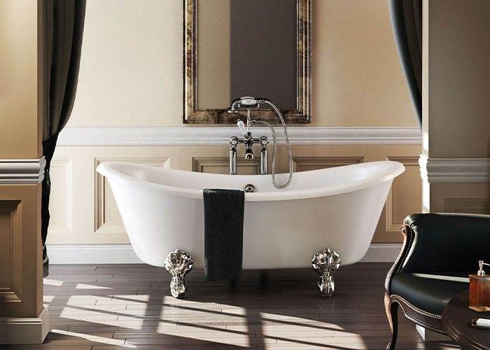 Burlington - Bateau Double Ended Bath White - 1640mm x 700mm