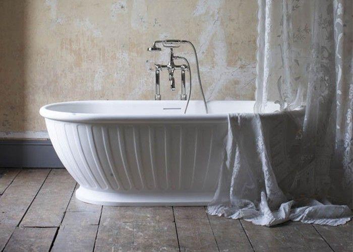 Burlington - Albany Freestanding Natural Stone Bath White - 1690mm x 800mm