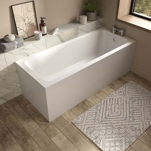 Lux Bath - Vale Single Ended Bath - 1800mm x 800mm - White