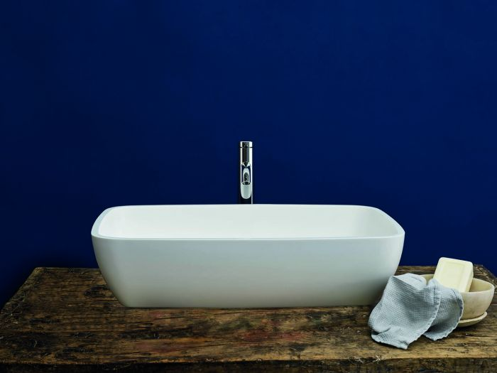 Clearwater - Vicenza Basin Hand Polished White - 390mm x 590mm