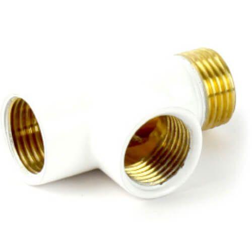 White Dual Fuel T Piece