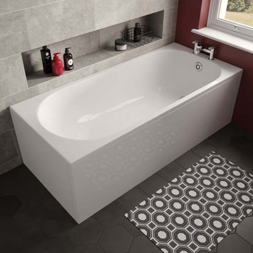 Lux Bath - Arnold Single Ended -1680mm x 745mm - White