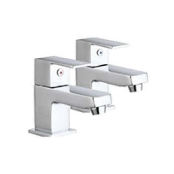 Lux Bath - Forte Bath Pillar Taps - Chrome